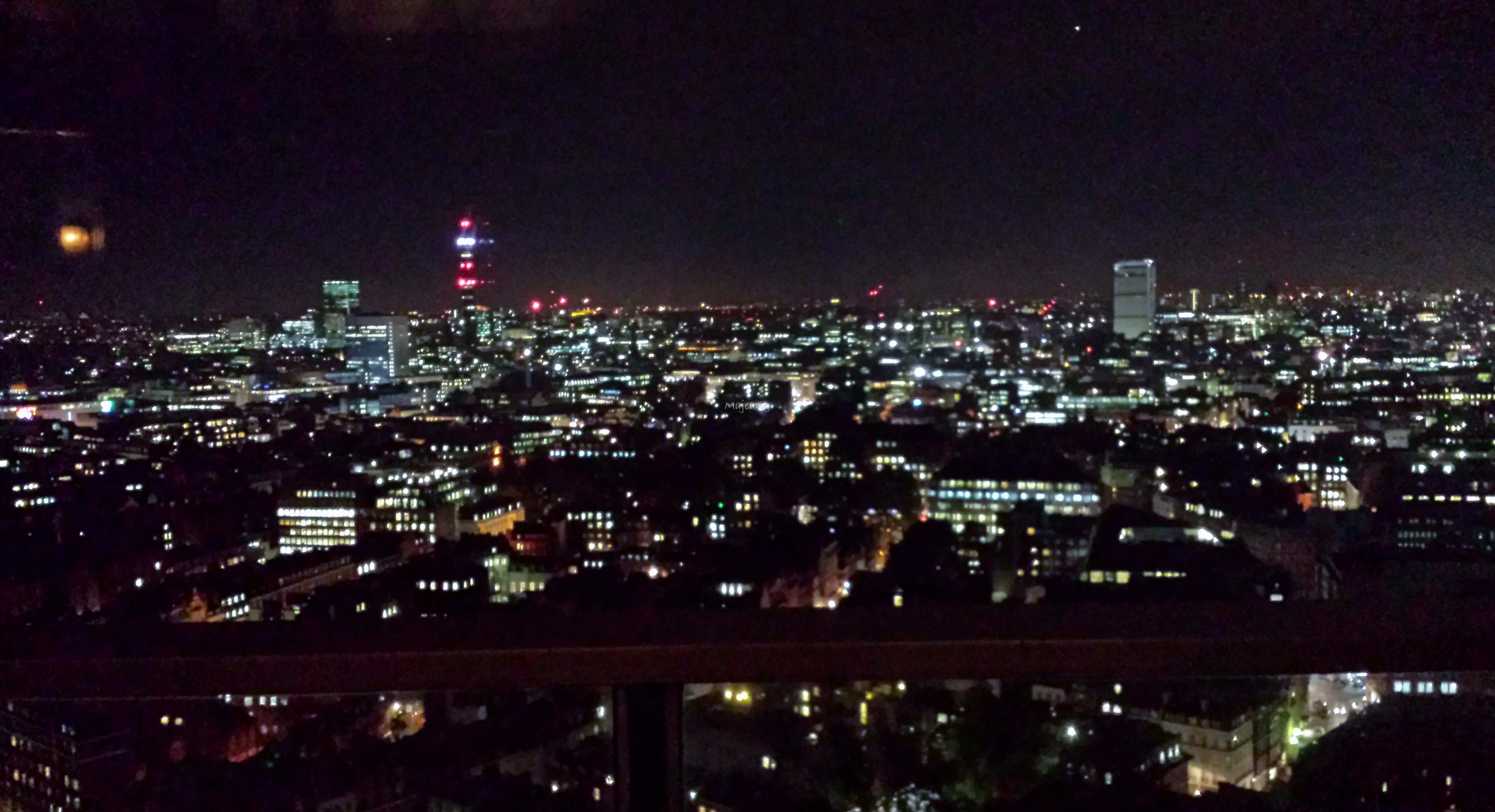 Sky view at night, La Nuit at Galvin Windows