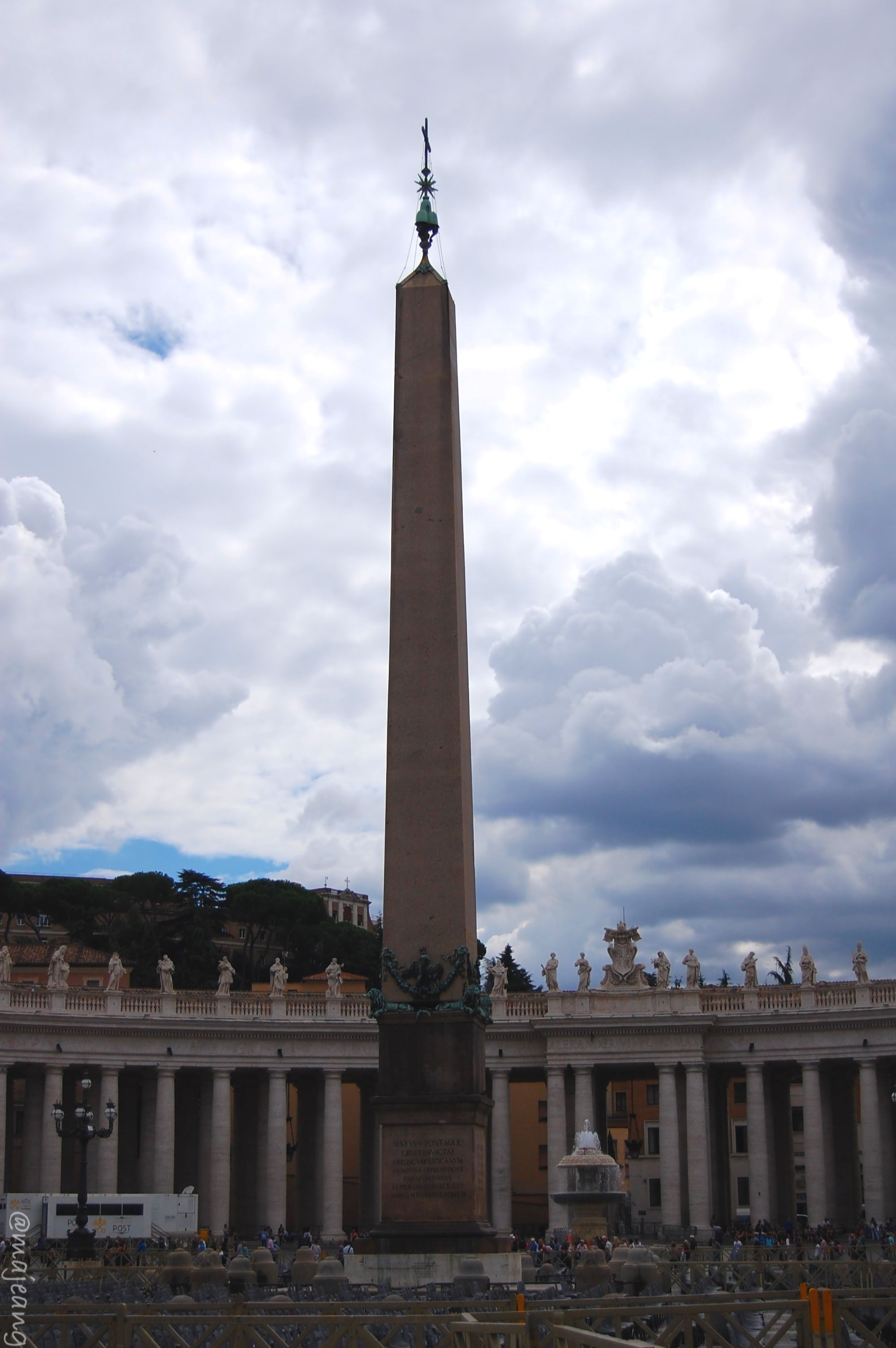 travelling on budget- St Peter's square
