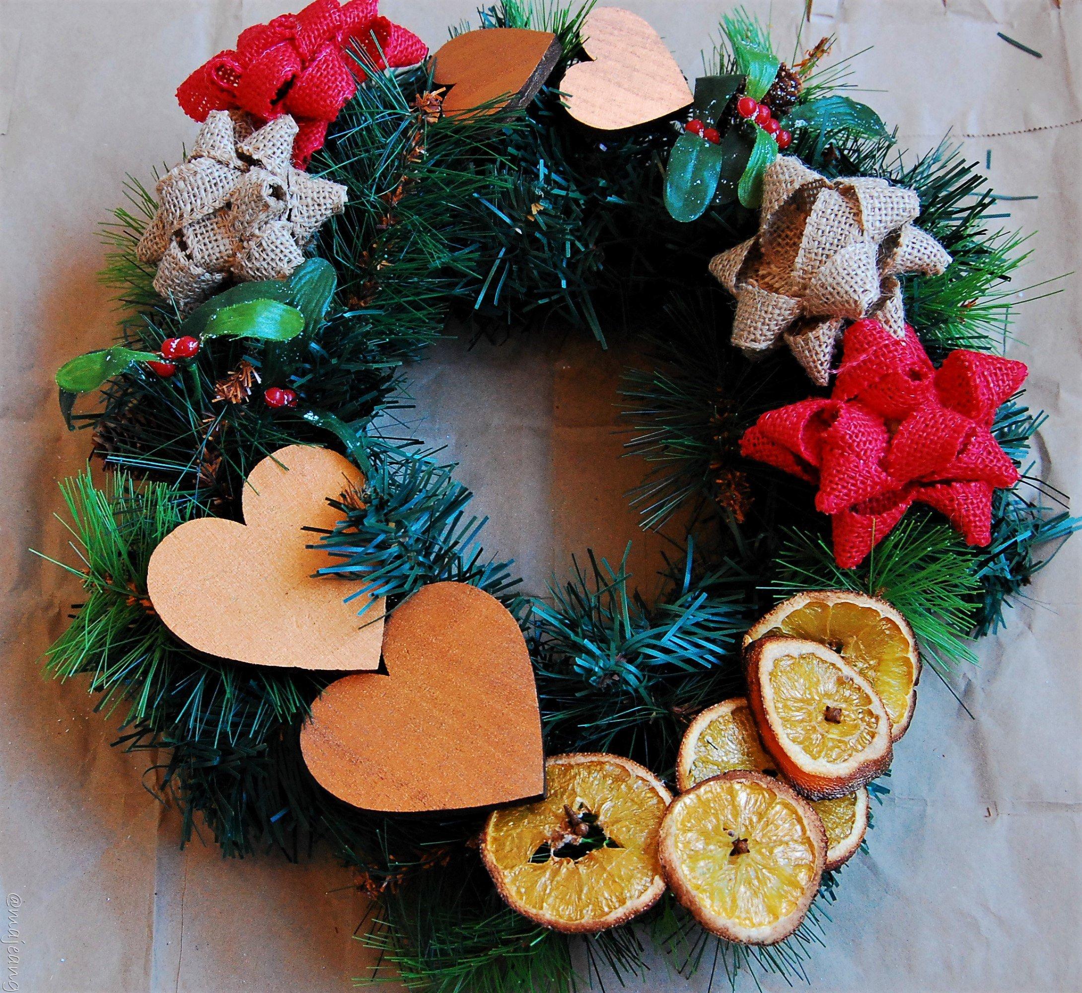 Christmas diy wreath - majeang.com
